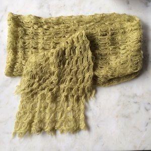 Vintage chartreuse scarf